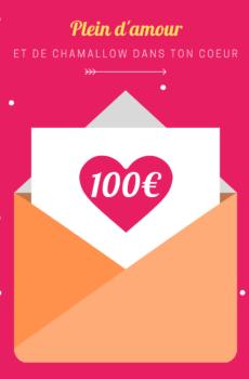 carte cadeau avec montant 100