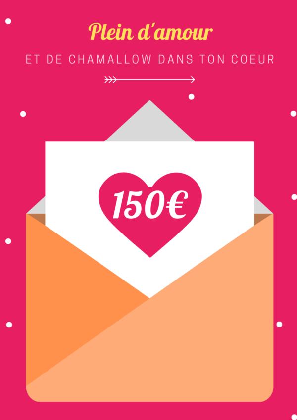 carte cadeau avec montant 150