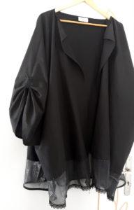 Kimono noir en coton bio