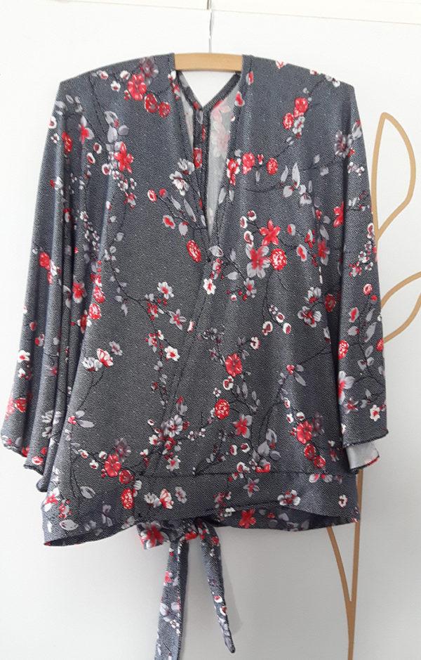 Blouse magali motif cerisier japonais