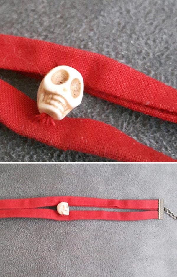 bracelet crâne double lien