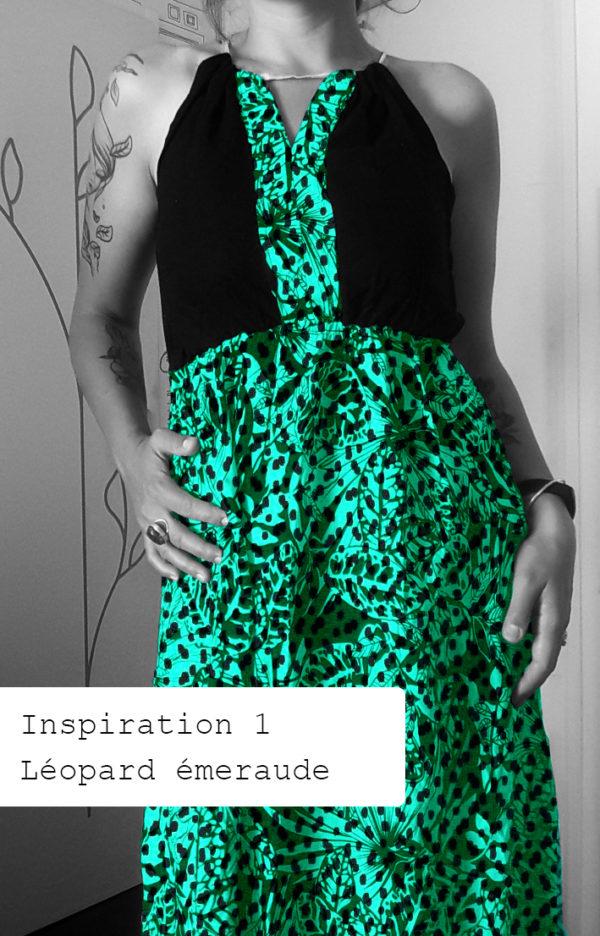 robe à motifs léopard vert