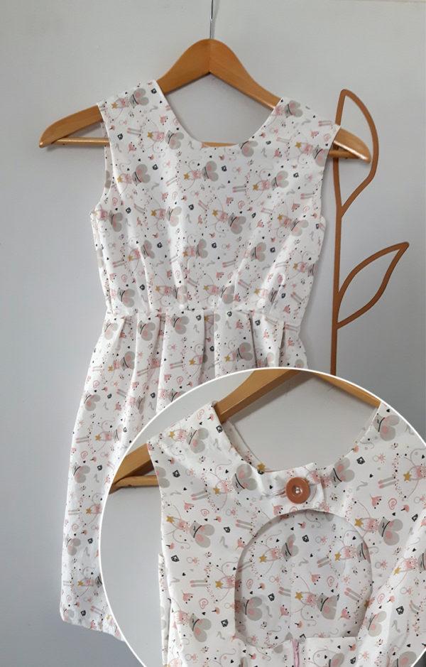 robe motif souris vue de dos et de devant