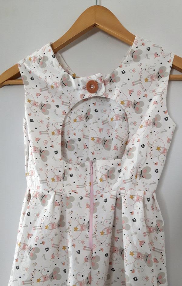 robe fillette de dos motif souris