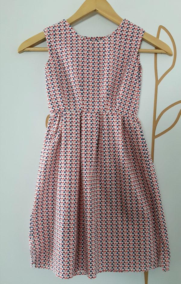 robe fillette motif triangles