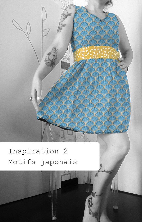 robe rockabilly motif japonais