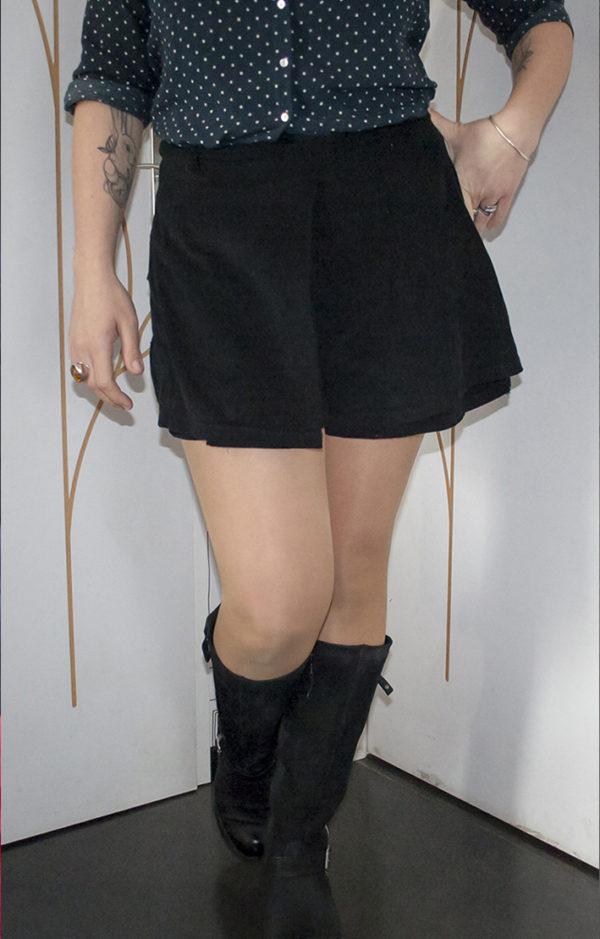 jupe short version noire