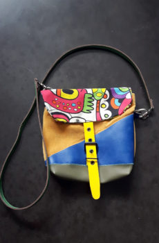 mini sac besace colorée