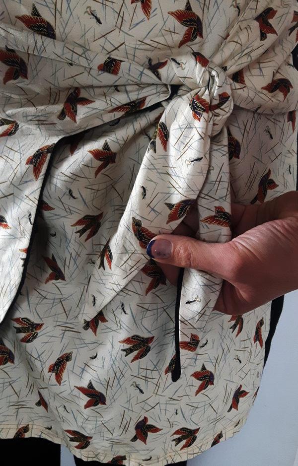 jupe-faux-portefeuille noeud de deavnt