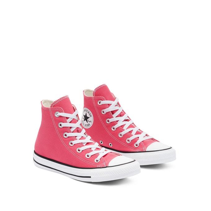 convers de couleur rose